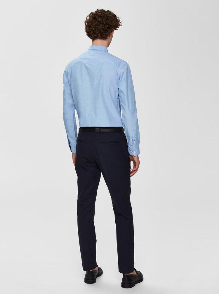 Modrá slim fit košile Selected Homme Mark