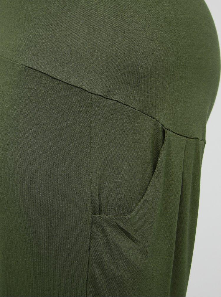 Khaki těhotenské basic tepláky Dorothy Perkins Maternity