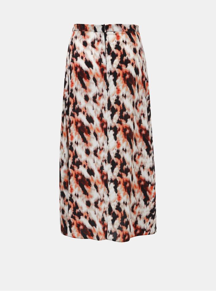 Béžová vzorovaná maxi sukně Dorothy Perkins