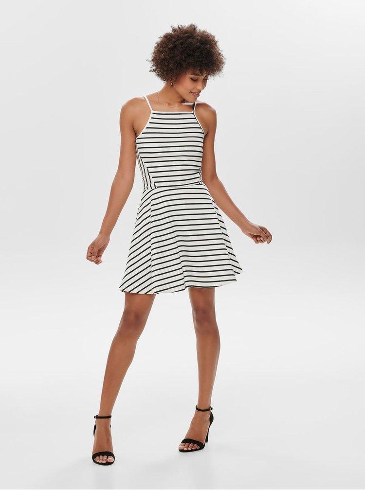Biele pruhované šaty ONLY Louisa