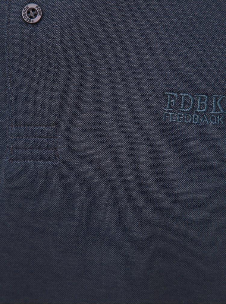 Tmavě modré polo tričko Feedback
