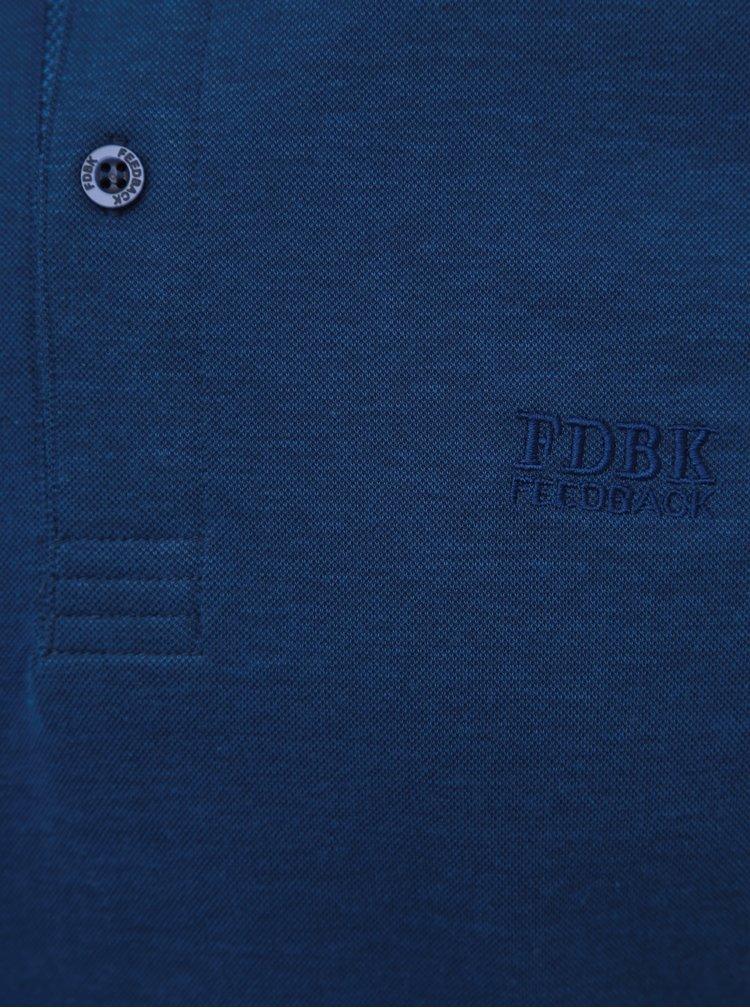 Modrá polokošeľa Feedback