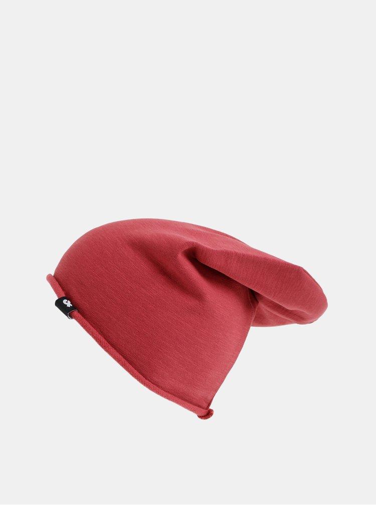 Červená čepice Jack & Jones Washed