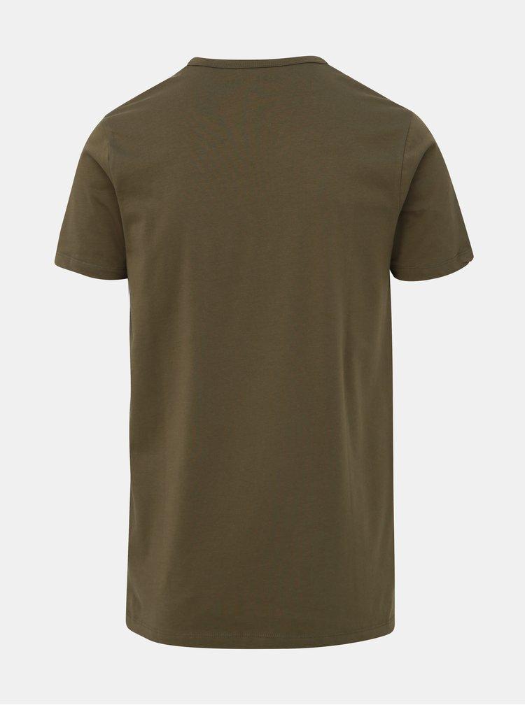 Kaki basic tričko Jack & Jones Basic