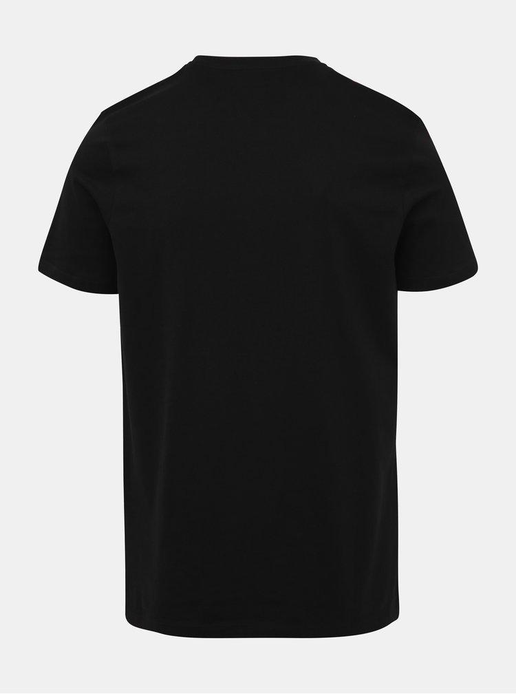 Čierne tričko s potlačou Jack & Jones Rafa