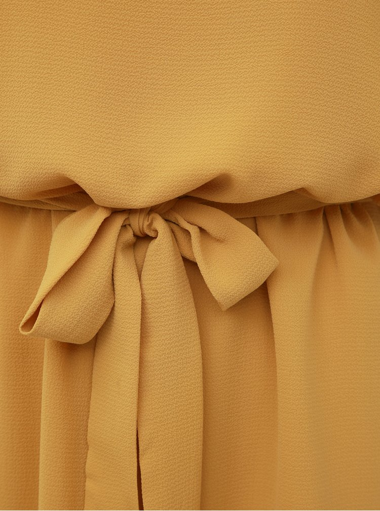 Hořčicové šaty Jacqueline de Yong Amanda