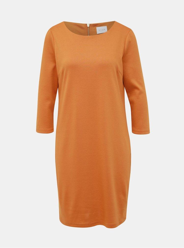 Oranžové šaty VILA Tinny