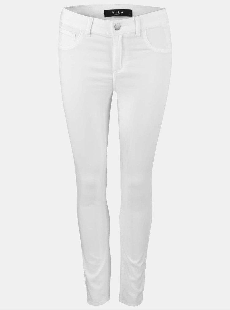 Biele úzke nohavice VILA Commit