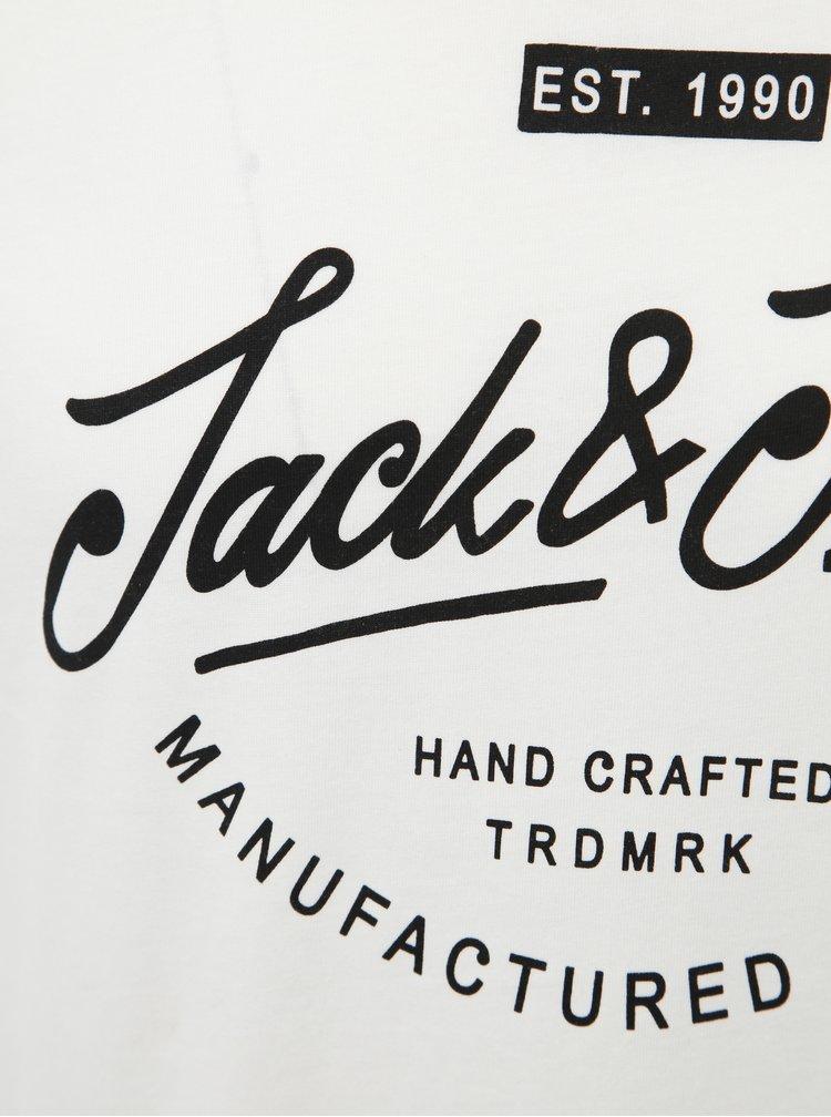 Bílé tričko s potiskem Jack & Jones Rafa