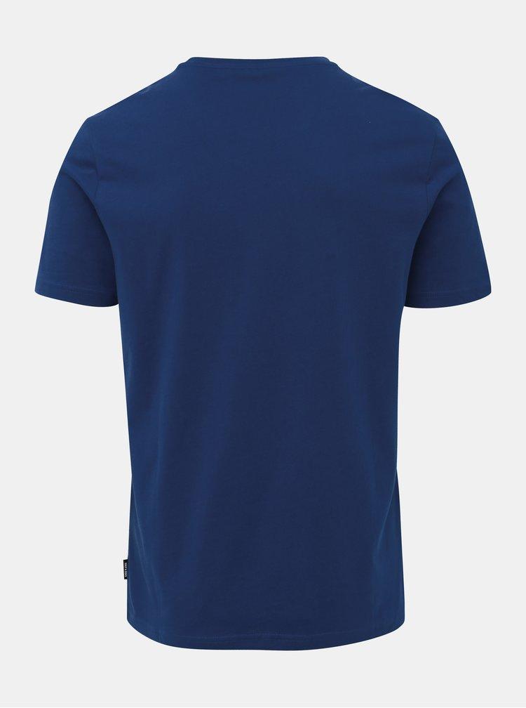 Tmavě modré tričko s potiskem ONLY & SONS Berge