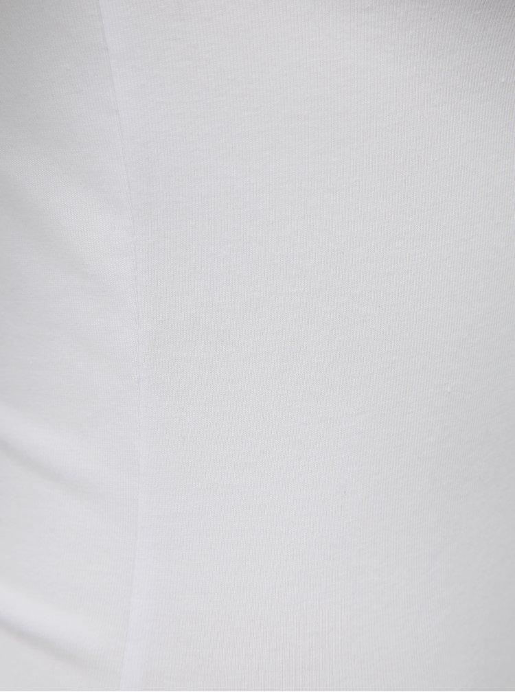 Bílé basic tričko s dlouhým rukávem Noisy May Kerry