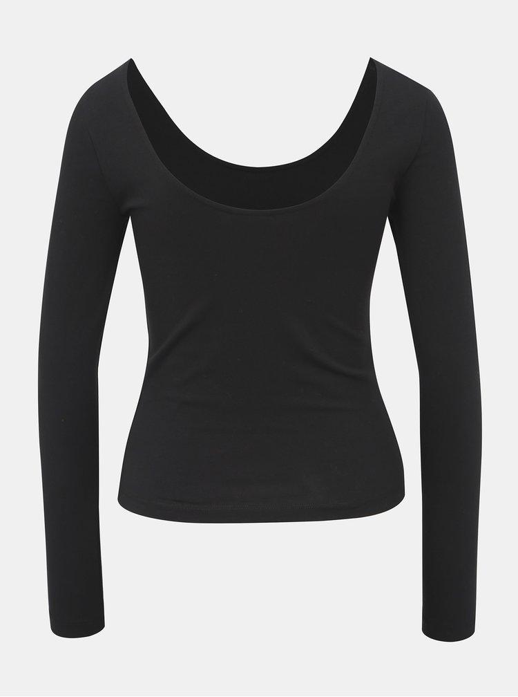 Černé basic tričko s dlouhým rukávem Noisy May Kerry