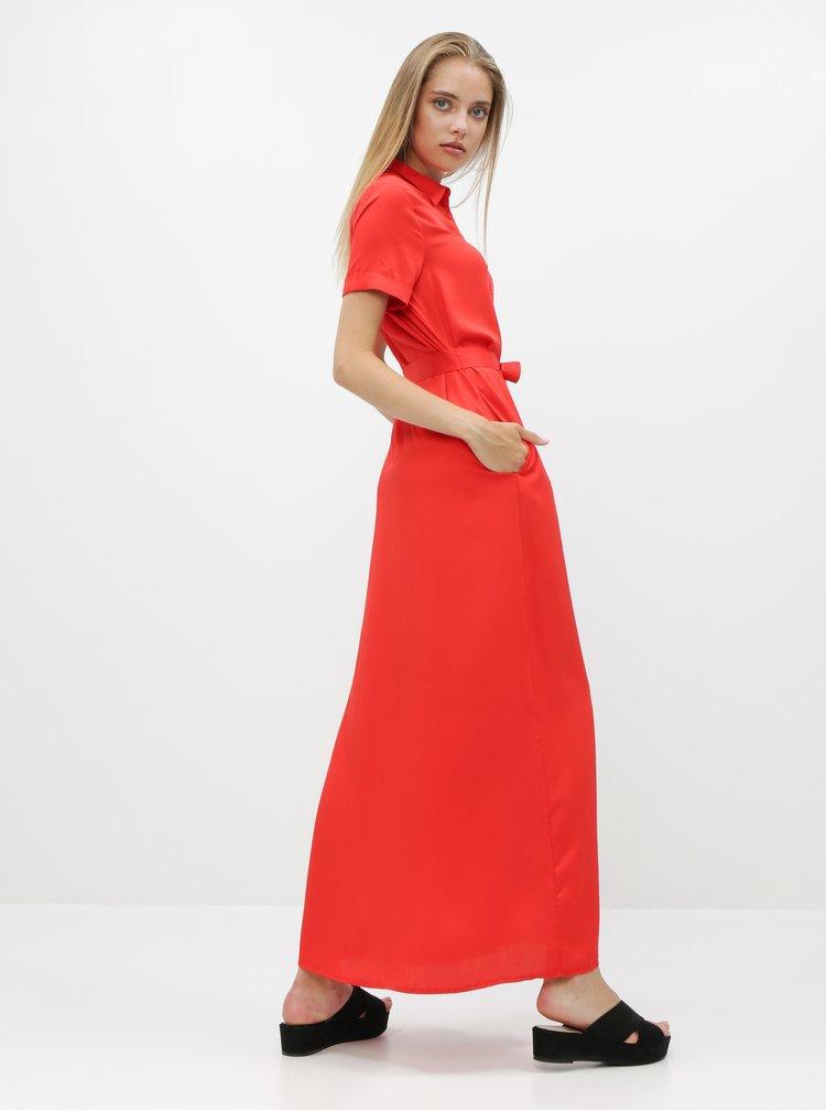 Červené košilové maxišaty ZOOT