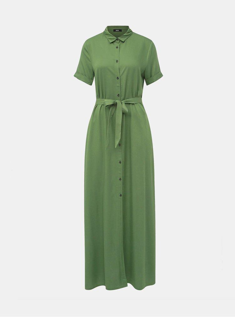 Zelené košilové maxišaty ZOOT
