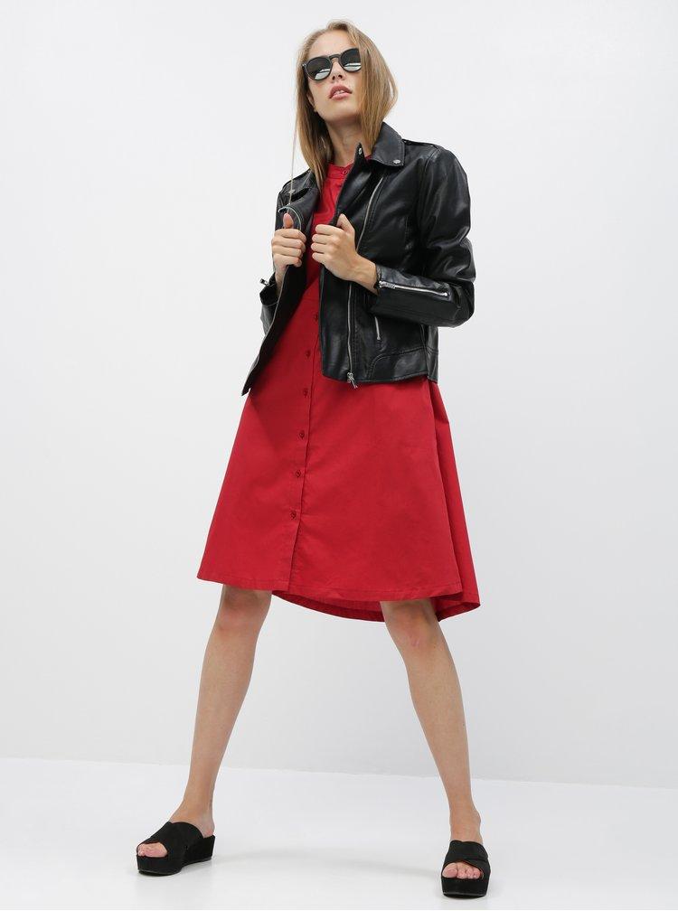 Červené košilové šaty ZOOT