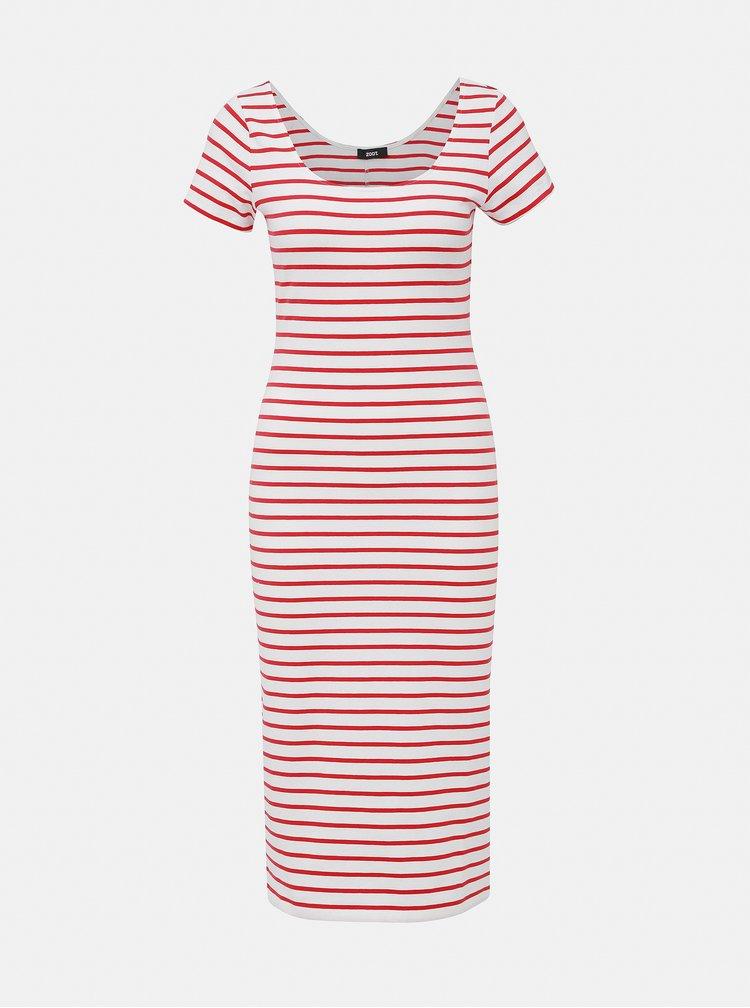 Červeno-biele pruhované basic šaty ZOOT Junne