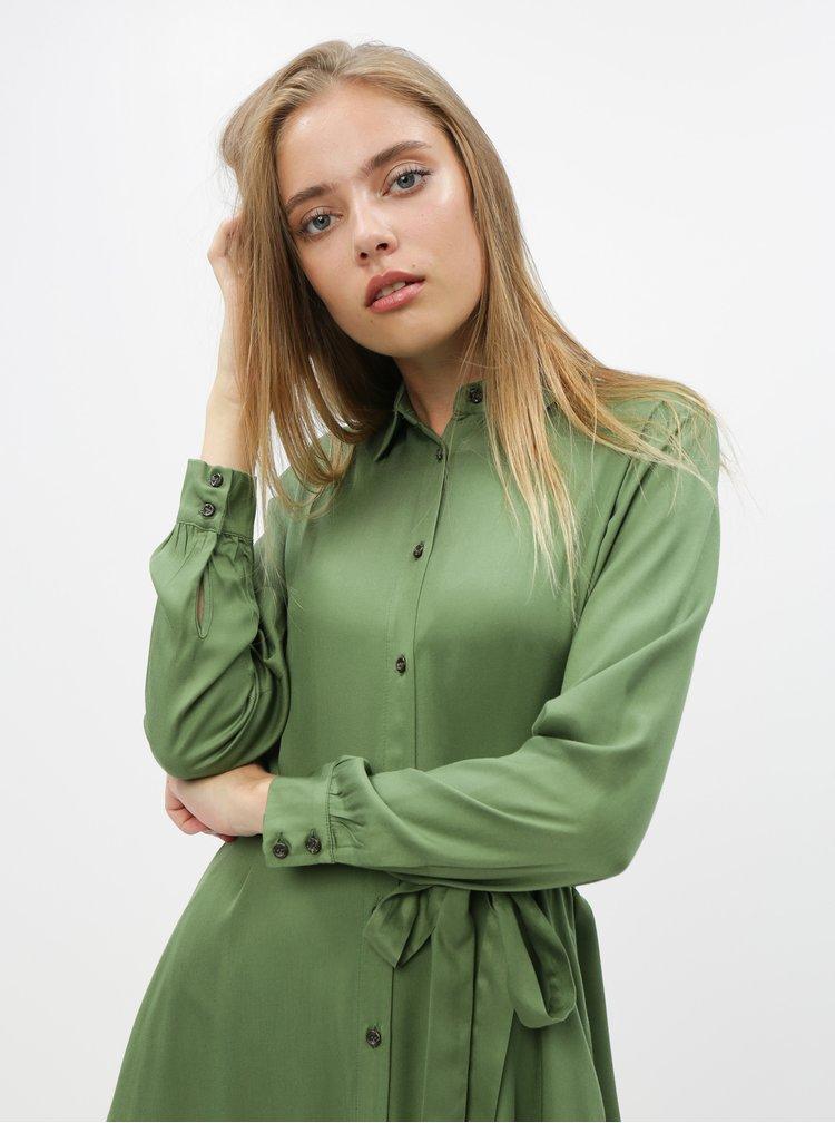 Zelené košilové šaty ZOOT