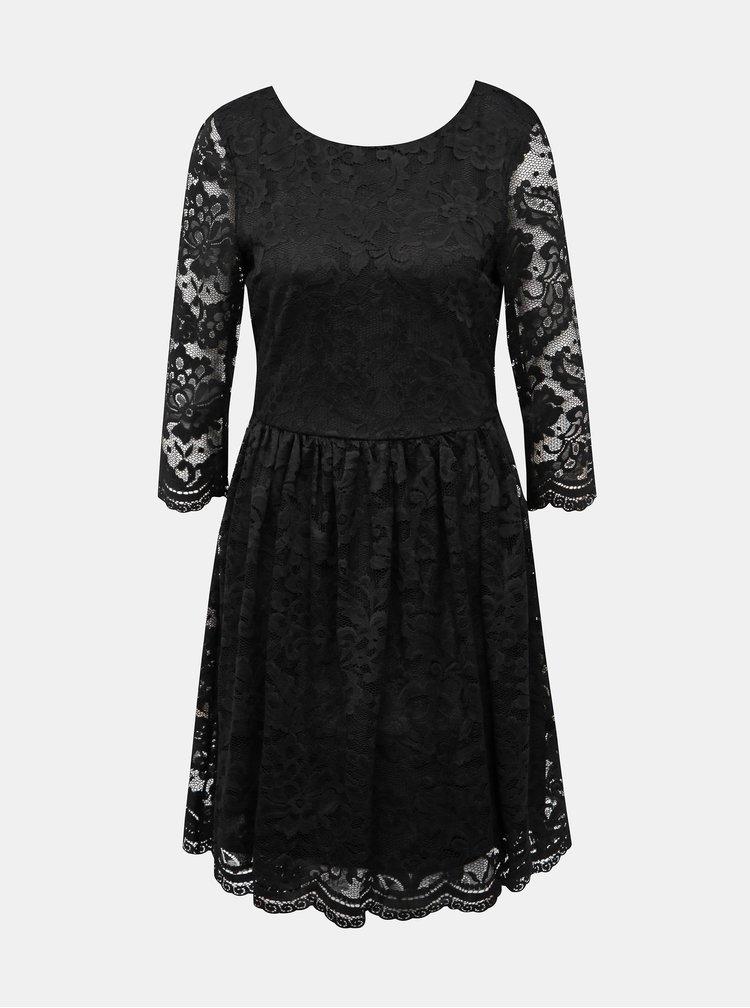 Černé krajkové šaty VERO MODA Alvia