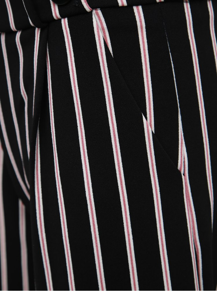 Čierne pruhované nohavice Jacqueline de Yong Geggo