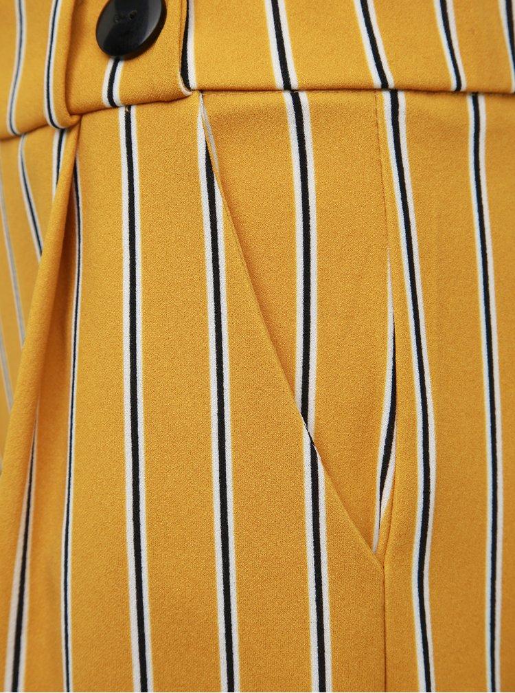 Hořčicové pruhované kalhoty Jacqueline de Yong Geggo