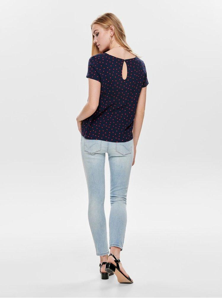 Bluza albastru inchis cu model ONLY First