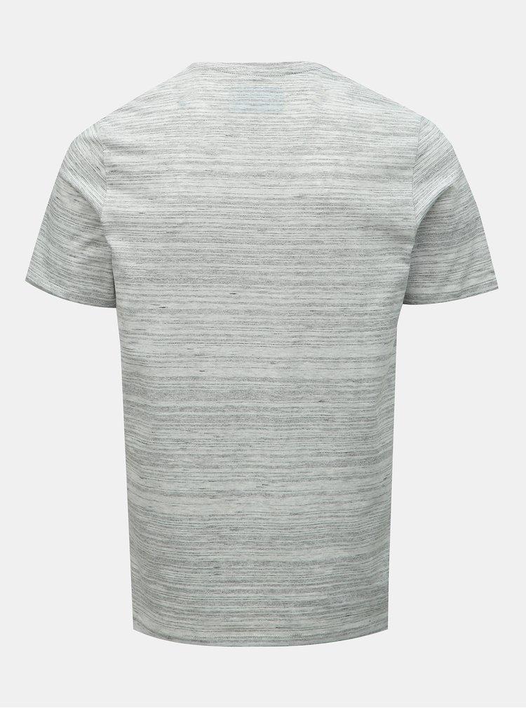 Sivé melírované tričko Jack & Jones Birk