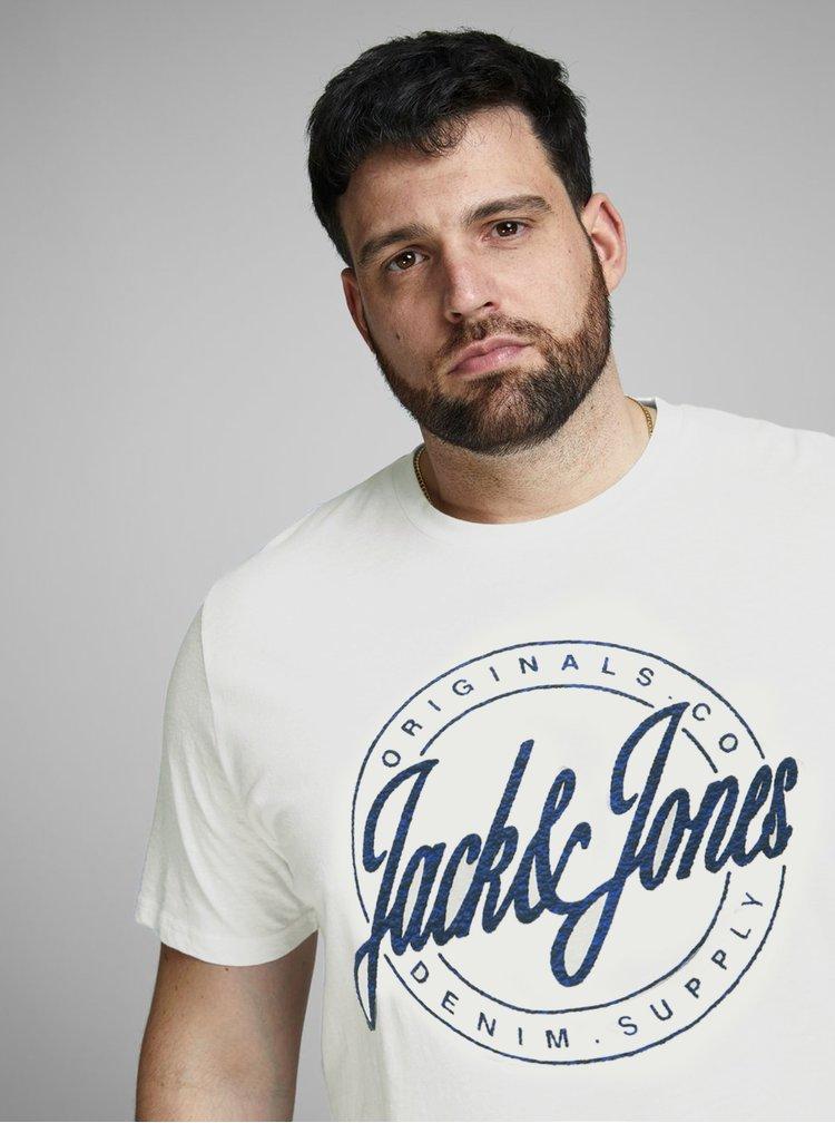Biele tričko s potlačou Jack & Jones Hazy