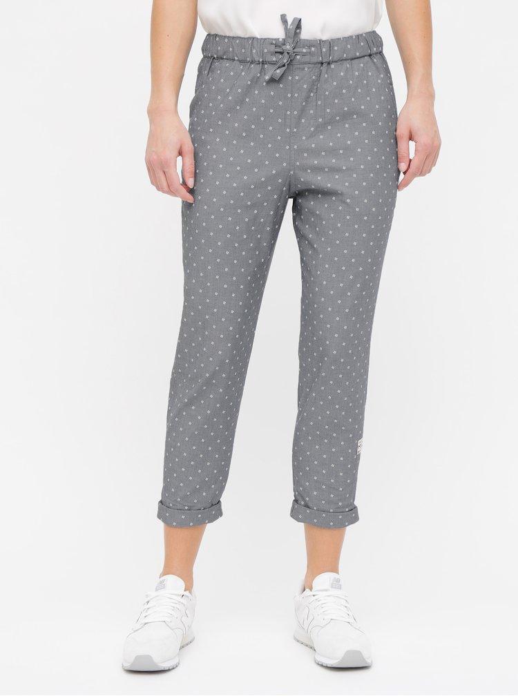 Šedé dámské vzorované kalhoty Maloja Uina