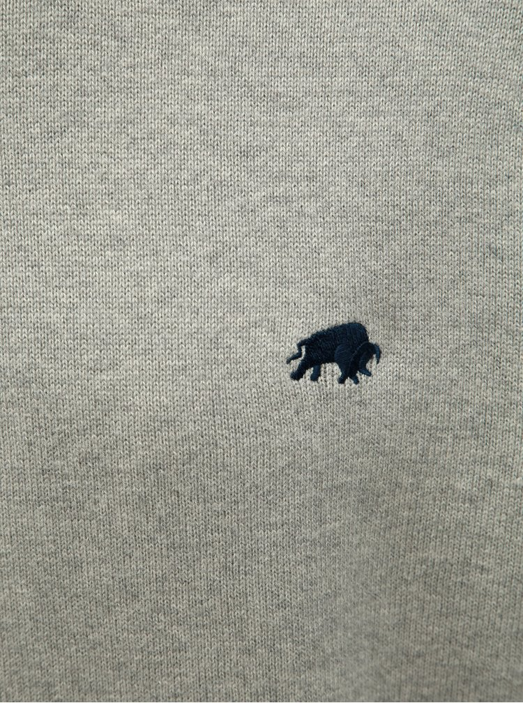 Světle šedý basic svetr Raging Bull