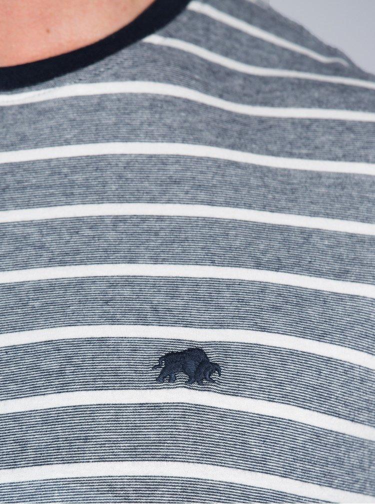 Tricou albastru inchis in dungi Raging Bull