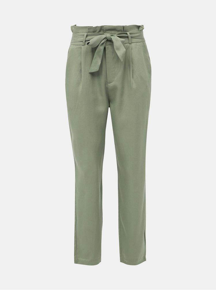 Zelené kalhoty VERO MODA Eva