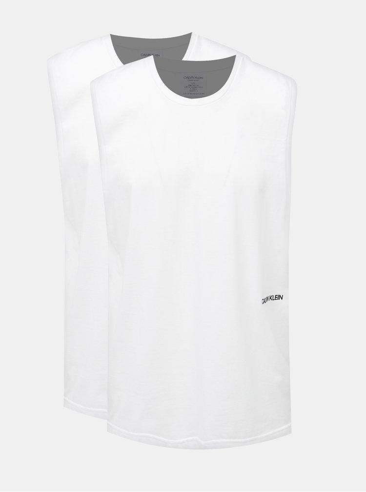 Sada dvoch pánskych tielok v bielej farbe Calvin Klein Underwear