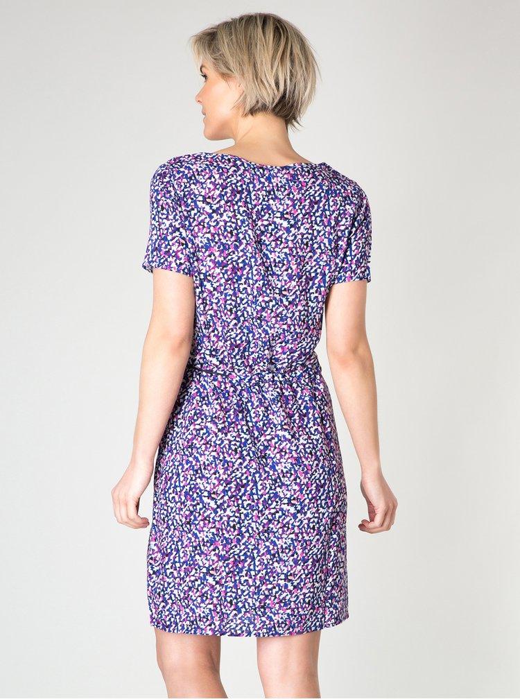 Fialové vzorované šaty Yest