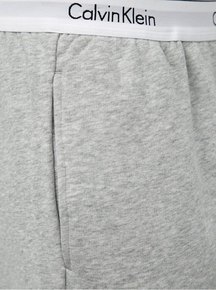 Šedé pánske žíhané šortky Calvin Klein Underwear