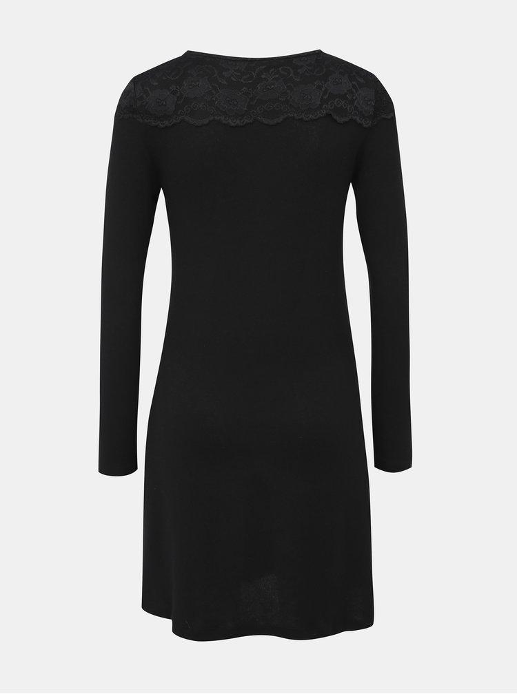 Čierne šaty s krajkou ONLY Deal