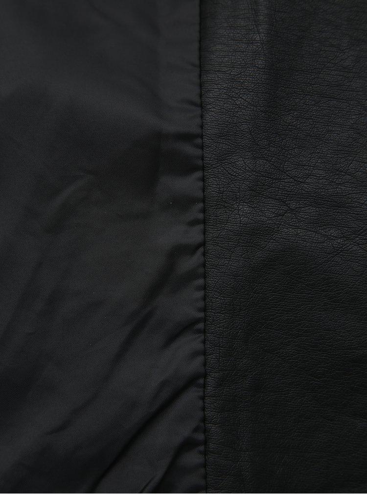 Černý koženkový křivák ONLY CARMAKOMA Emmy