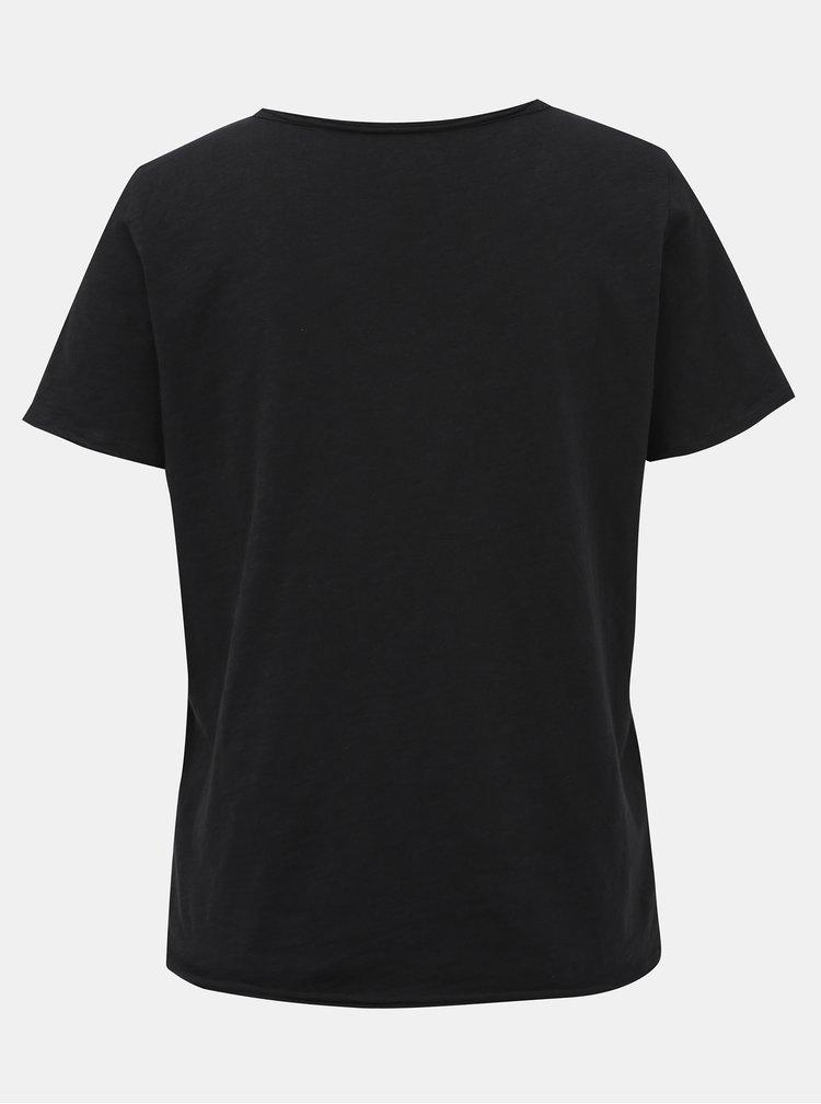 Čierne tričko ONLY Bone