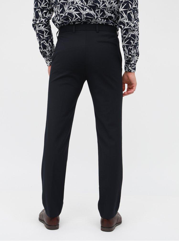 Tmavomodré oblekové slim nohavice Burton Menswear London