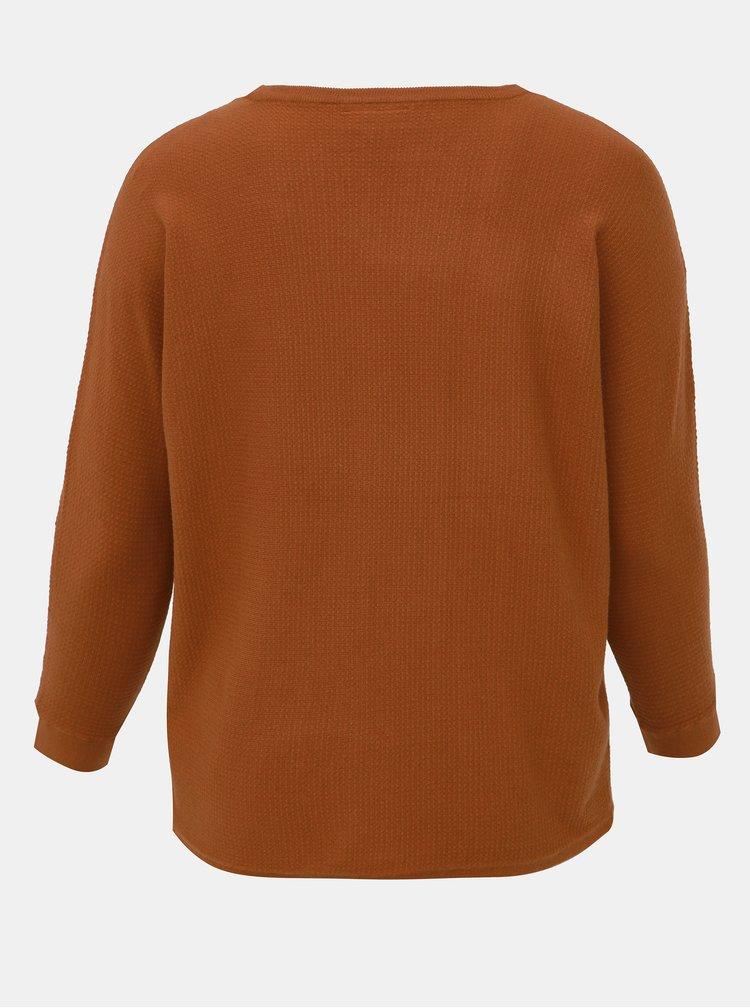 Hnedý sveter ONLY CARMAKOMA Carline