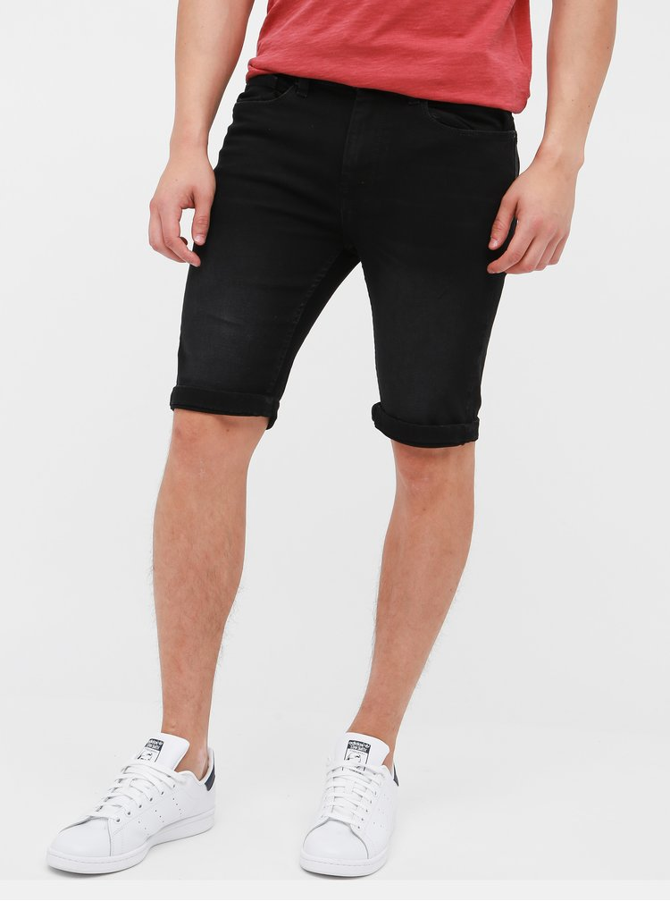 Pantaloni scurti negri din denim Burton Menswear London