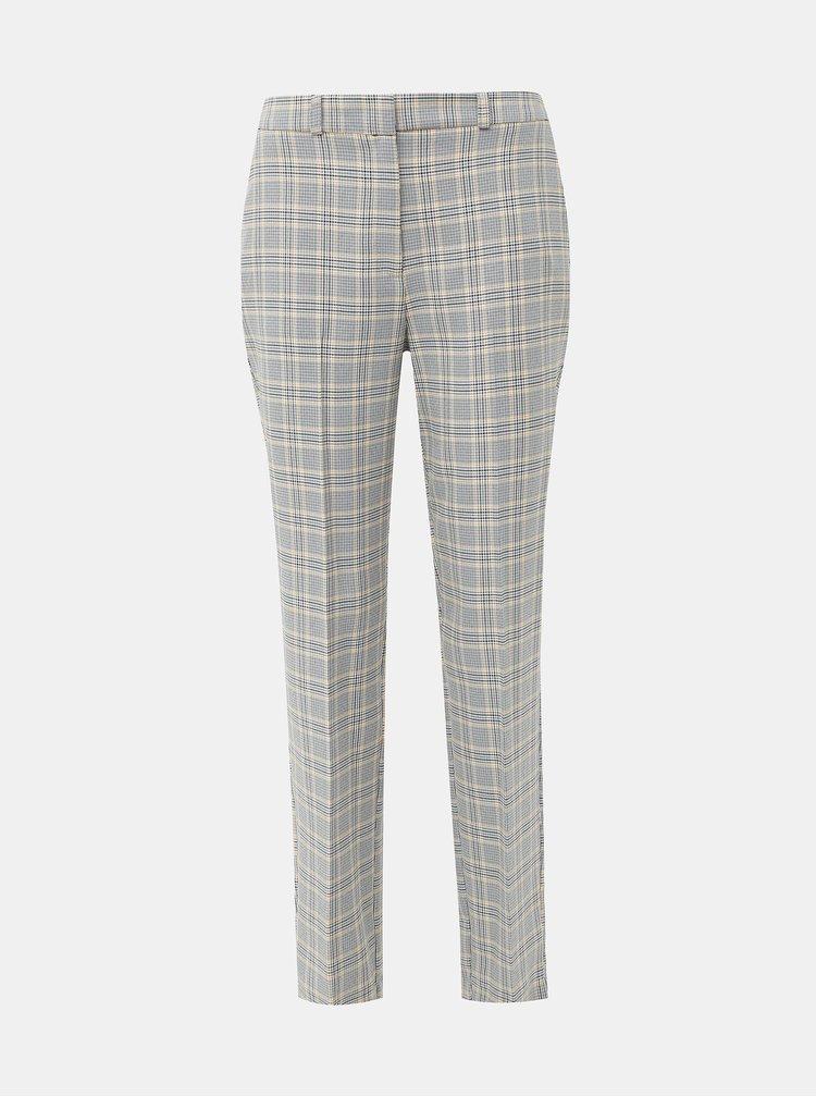 Dámske šedé kockované nohavice Dorothy Perkins Tall