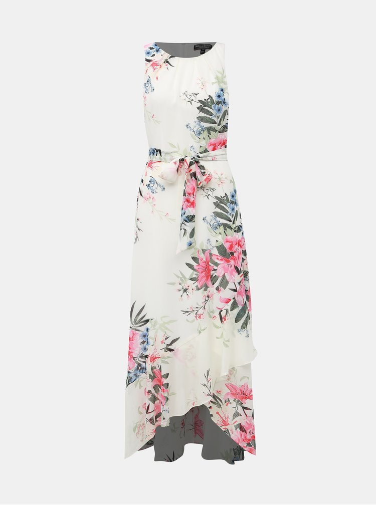 Biele kvetované maxi šaty Dorothy Perkins