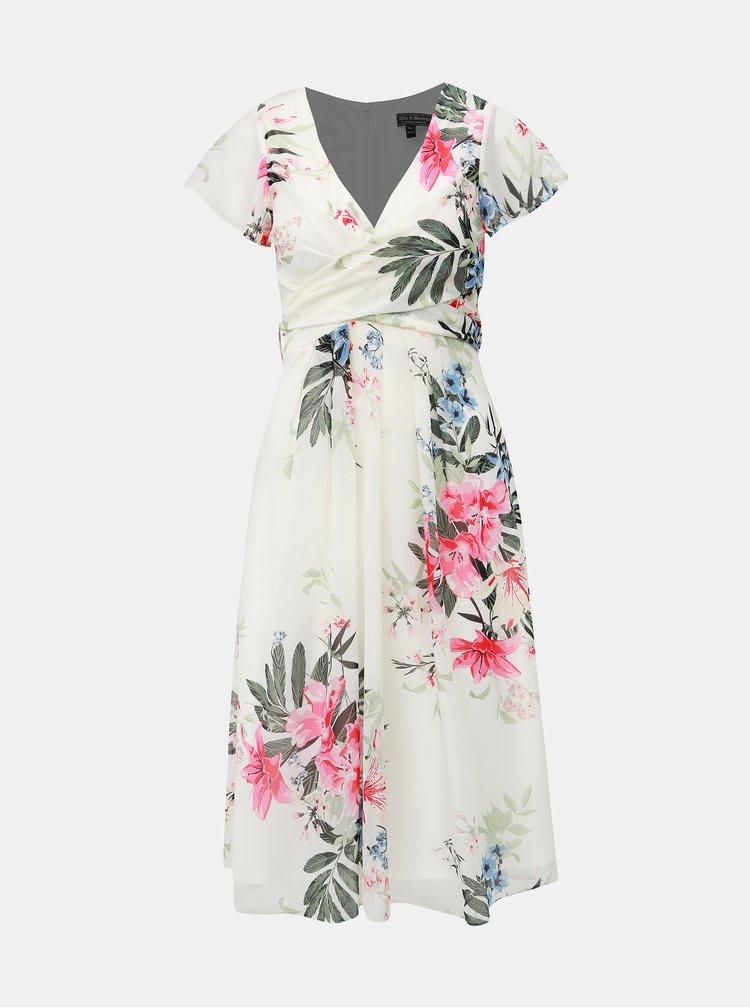 Biele kvetované šaty Billie & Blossom