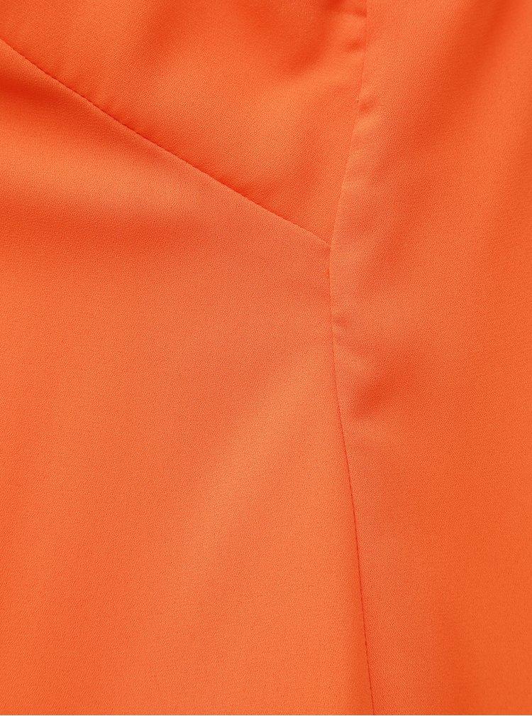 Oranžový top s pásikmi na chrbáte Dorothy Perkins Curve