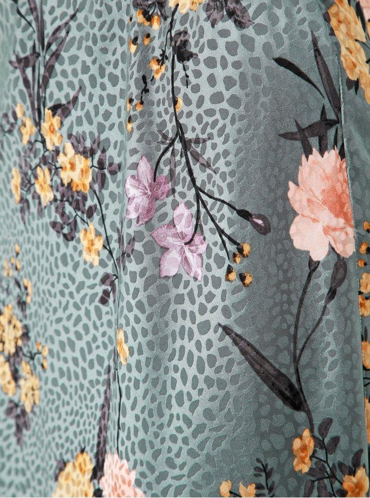 Šedá květovaná midi sukně Dorothy Perkins