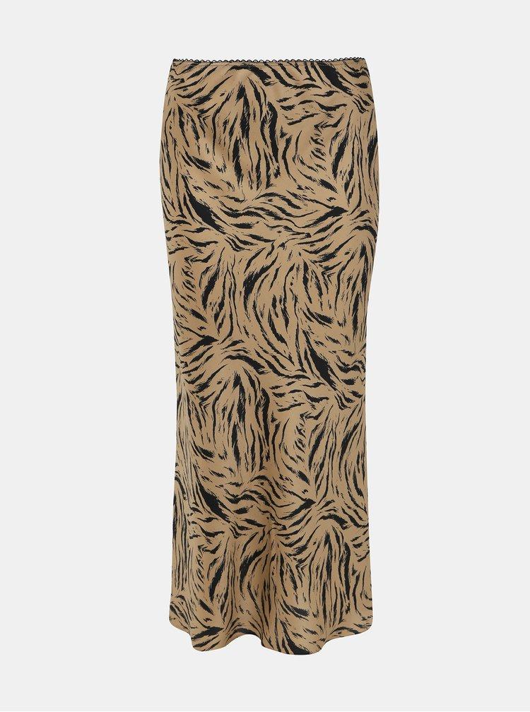 Hnedá maxi sukňa Dorothy Perkins