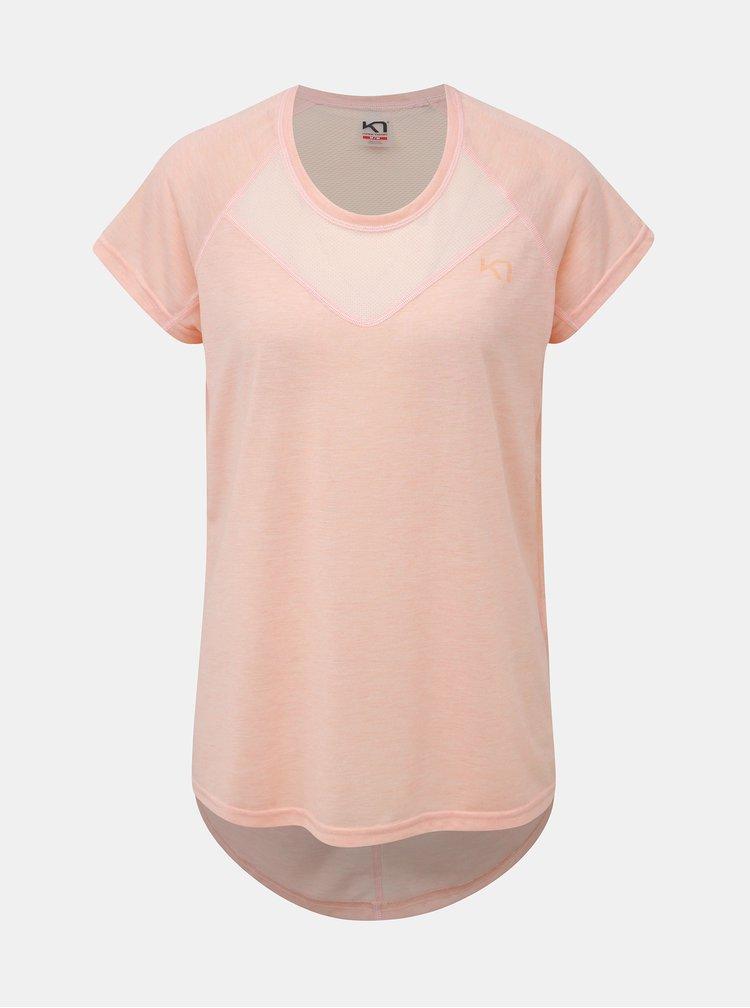 Meruňkové sportovní tričko Kari Traa Maria Tee
