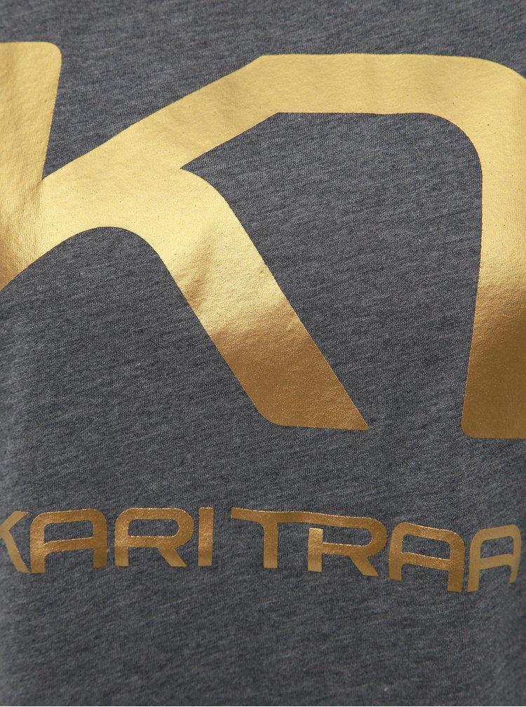 Šedé tričko s potlačou Kari Traa Vilde
