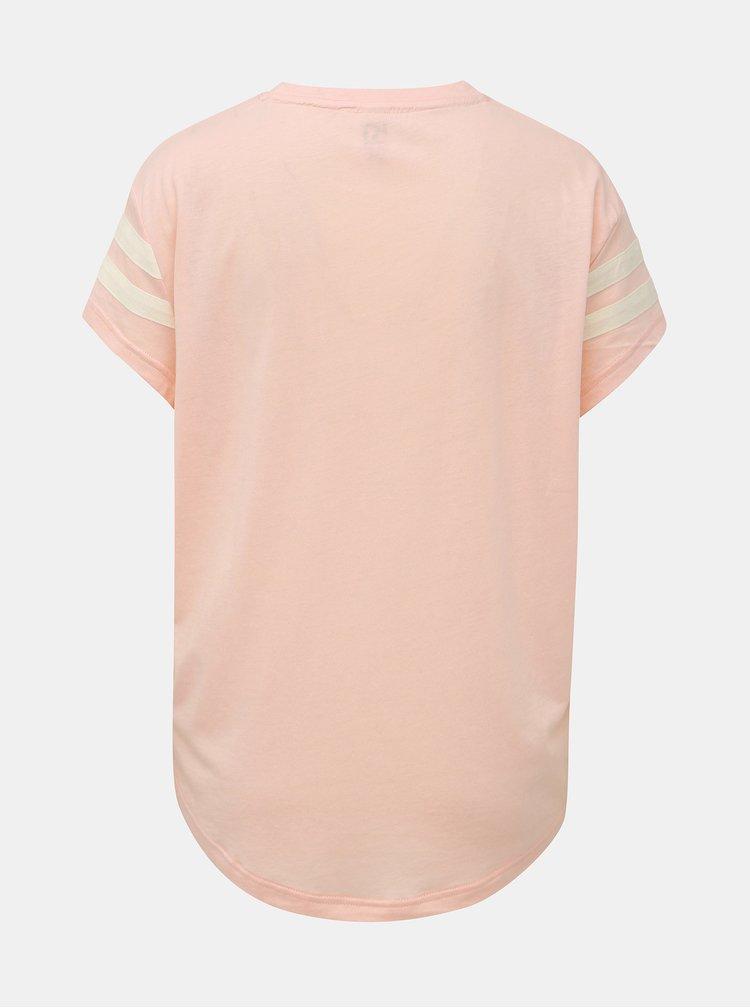 Růžové tričko s potiskem Kari Traa Vilde