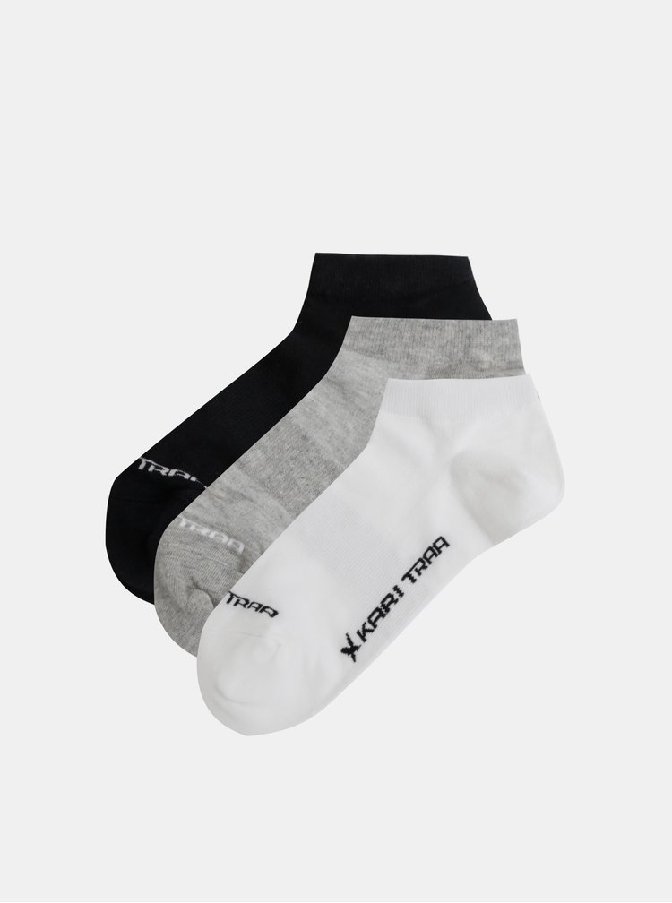 Sada tří ponožek v bílé, šedé a černé barvě Kari Traa Tafis